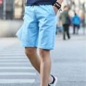 Men's Basic Bermuda Casual Short Solid Color Fine Knit