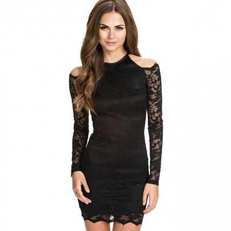 Income Sleeve Dress Black Long Short Party Night