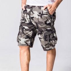 Short Masculino Camuflagem Varios Bolsos Do verão