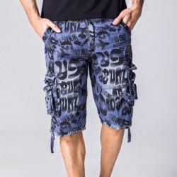 Short Masculino Moda Estampada Letras e Bolsos