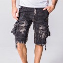 Men's Short Sleeve Printed Fashion Letters and Handbags