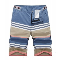 Short Casual Men's Casual Beach Striped Fashion