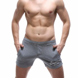 Short Masculino Curto Estampado Confortavel Moletom