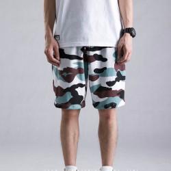 Short Masculino Camuflagem Militar Casual Colorido