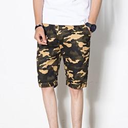 Masculino curto Camuflagem Militar Casual Colorido Moda Estilo