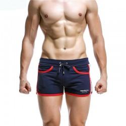 Short Curto Masculino Boxer Listrado Moda Casual Sexy