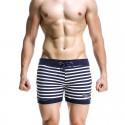 Short Curto Masculino Listrado Moda Praia Verão