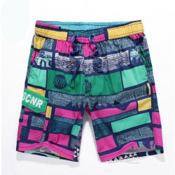 Men's Short Print Colored Fashion Beach Casual Sun