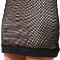 Vestido Sofisticado Cinza Balada Curto Feminino Manga Longa