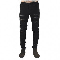 Black Slim Men's Slippery Fashion Skinny Pop Rocky Style Cute