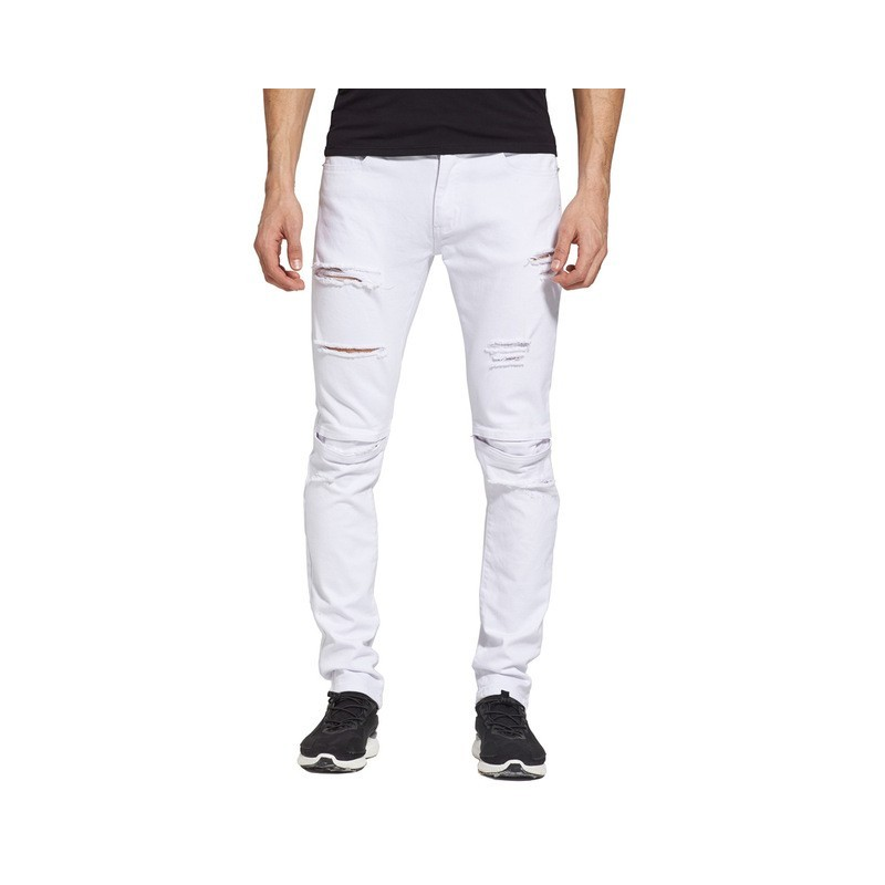 3ca6e992aed Men's Jeans Slim Fit White Skinny Jeans Torn