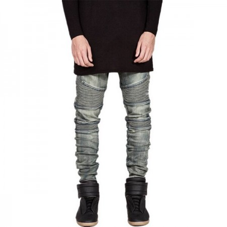 Men's Jeans Slim Fit Youth Play Ballad Party Relay