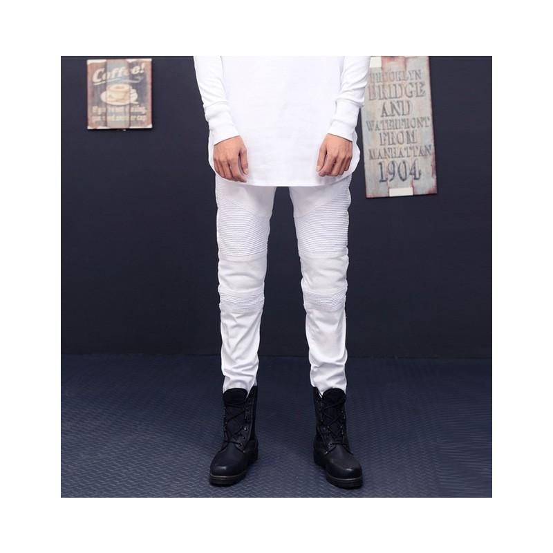 Calça Jeans Masculina Slim Fit Jovem Play Festa Balada Relevo a6a4df6e135a5