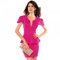 Elegant Dress Short Party and Social Work Female
