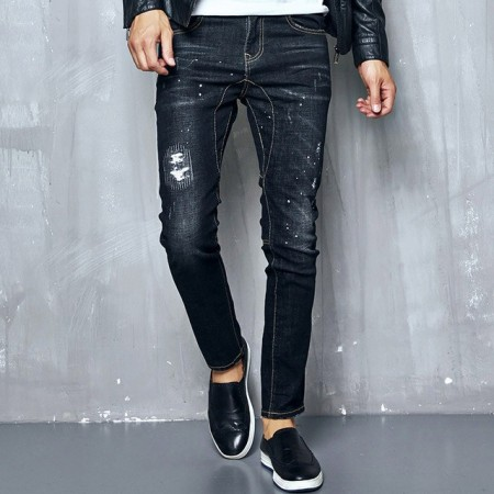 Jeans Jeans Elastic Tears Wear Youth Fashion