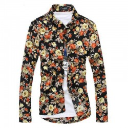 Men's Floral Shirt Avaian Style Summer Beach Print