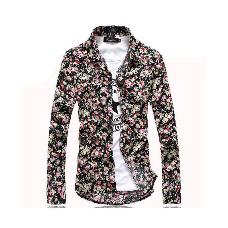 a451027909f2 Men s Floral Shirt Avaian Style Summer Beach Print