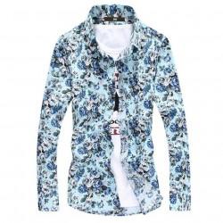 Masulina Shirt Floral Social Modern Style Beach Summer