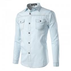 Fashion Men's Rodeo Fashion Long Sleeve Jeans