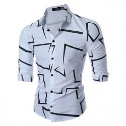 Social Shirt Shawn Mendes Navy Blue Long Sleeve Geometric Show