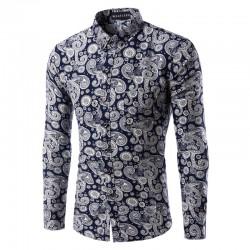 Camisa Masculina Estampa Retro Para Festa Jantares Encontros Romantico