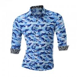 Camisa Masculina Camuflada Exercito Manga Longa Estampada