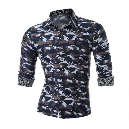 Camisa Masculina Camuflada Exercito Manga Longa Estampada 8669188612b