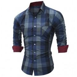 Xandre Men's Long Sleeve Style Button Xadrz Quadrant