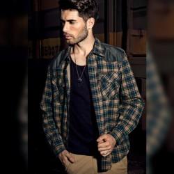 Men's Chess Lumberjack Shirt High-End Long Sleeve Jacket