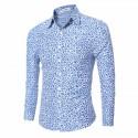 Men's Fashion Shirt Florida Long Sleeve Social Print