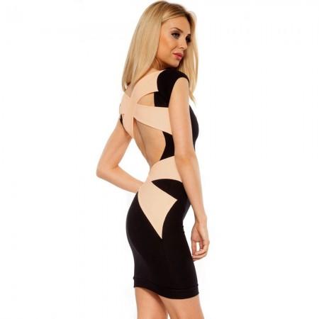 Mini Vestido Moderno Preto Estilo Festa Noite