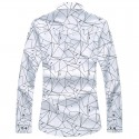Casual Long Sleeve Men's Geometric Shirt
