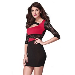 Modern Short Sleeve Dress Long Fashion Party Club