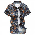 Men's Social Shirt Party Short Sleeve Button Club
