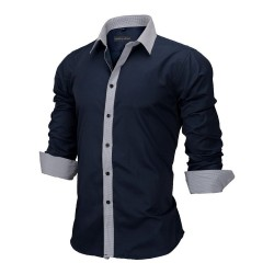 Men's Casual Social Shirt Long Sleeve New Fashion Button