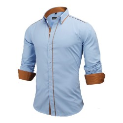 Men's Casual Social Shirt Long Sleeve New Fashion Button