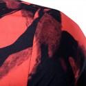 Camisa Futurista Festa Haver Noite Masculina Manda Longa Gola Mandarim