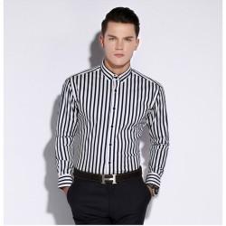 Camisa Social Listras vertical Masculina de Trabalho Formal Evento Lux