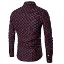 Men's Casual Long Sleeve Printed Shirt