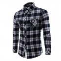 Casual Shirt Men's Chess Long Sleeve Party Junina Youth Fashion