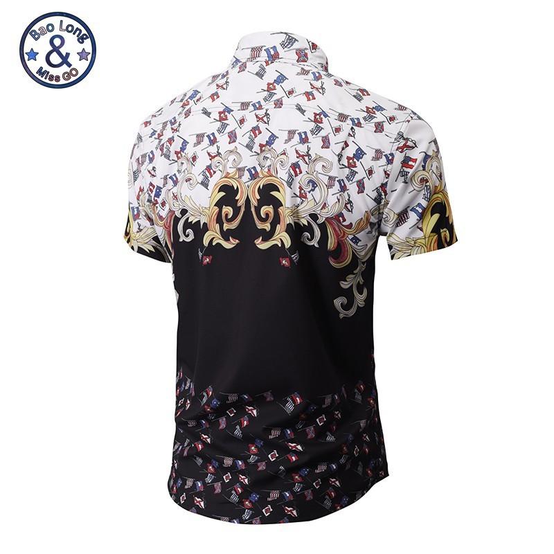 d6f06dc7a7 Camisa Estampada Floral Moda Harajuku Manga Curta