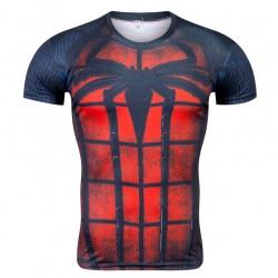 Camiseta Temática Heroi Homem Aranha Manga Curta Masculina Preta