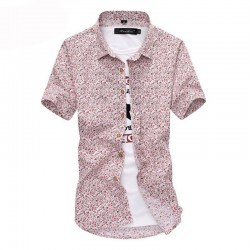 Men's Casual Shirt Fashion Printed Summer Flowers
