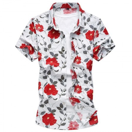 Camisa Masculina Florida Casual Moda Praia Verão Avaiana