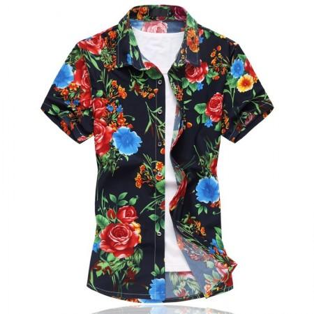 Camisa Masculina Florida Avaiana Colorida Estampada Verão