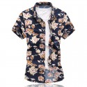 Men's Florida Shirt Printed Hawaiian Fashion Casual Summer Dark