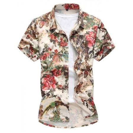 480502dba8aca Camisa Florida Masculina Moda Avaiana Verão Praia