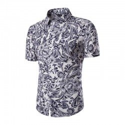 Masulina Shirt Flowers Modern Stylish Casual