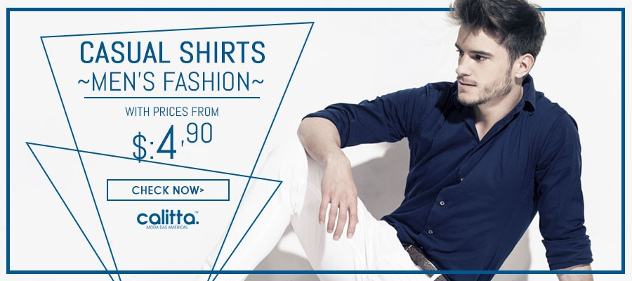 Fashion Social Shirts Calitta Brazil Men