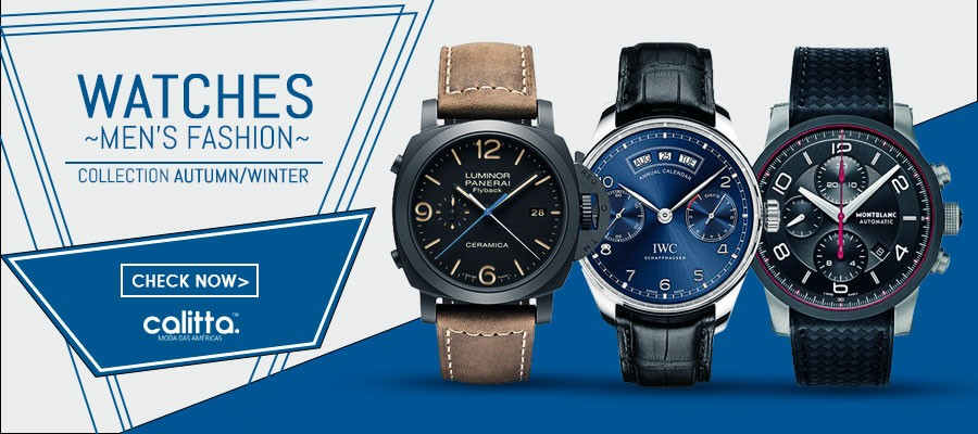 Fashion Watches Men Calitta Brazil